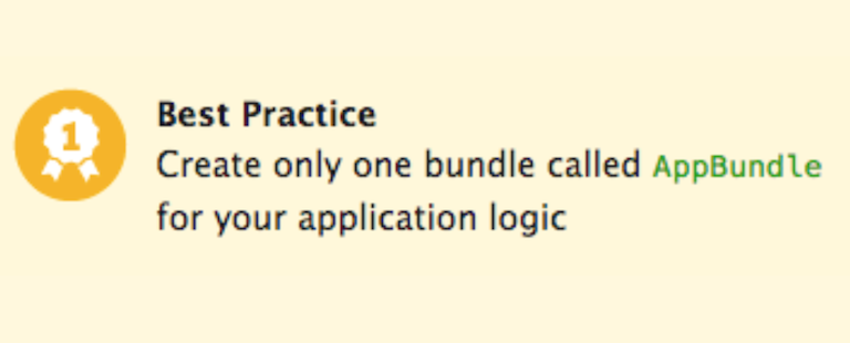 Bundles, No Bundles and AppBundle in 10 Steps