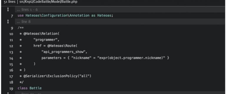Expanding Code Blocks