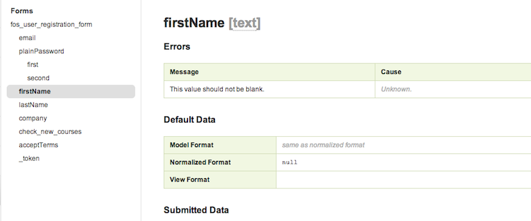 Accessing and Debugging Symfony Form Errors